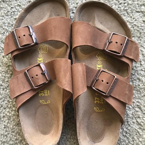 ecf9de05df2 Birkenstock Shoes - Brown leather Birkenstock size 7 NBW